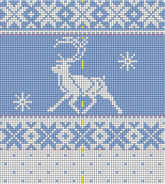 Узор Олени спица: идеальное решение для модного свитера uzor olen 7