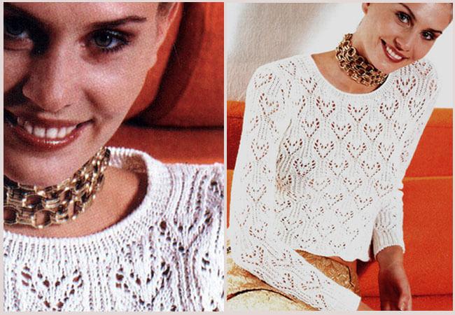 Узор сердечки спицами: различные варианты вязания uzor serdzу30