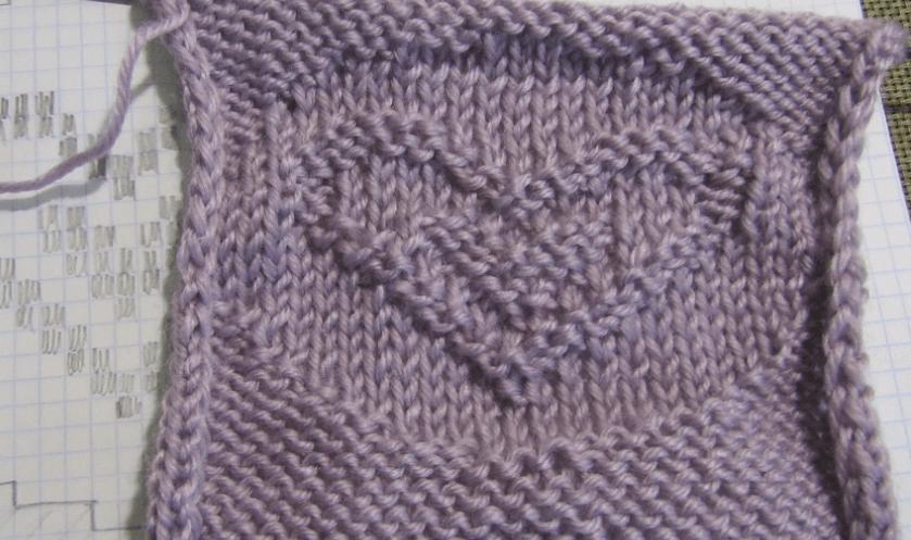 Узор сердечки спицами: различные варианты вязания uzor serdze12