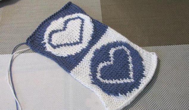 Узор сердечки спицами: различные варианты вязания uzor serdze13 2