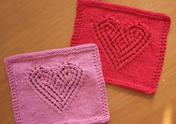 Узор сердечки спицами: различные варианты вязания uzor serdze27