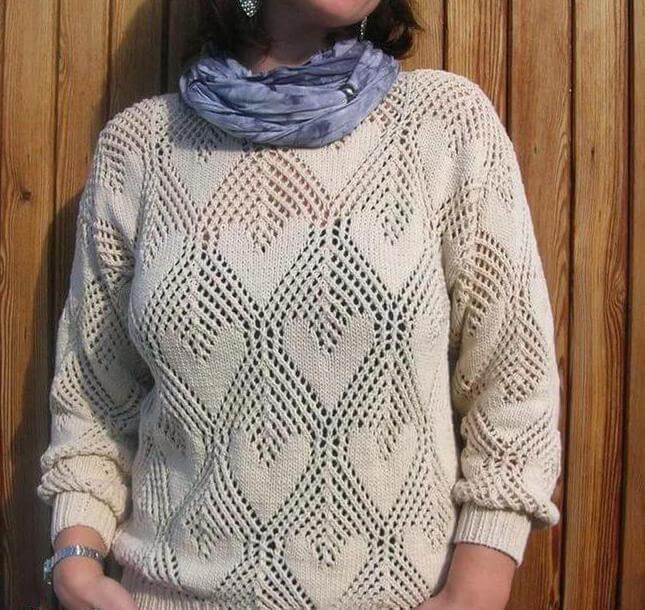 Узор сердечки спицами: различные варианты вязания uzor serdze29
