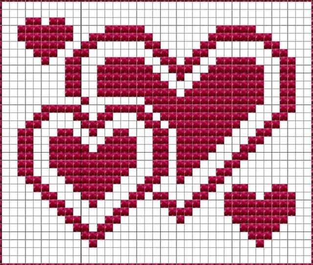 Узор сердечки спицами: различные варианты вязания uzor serdze6