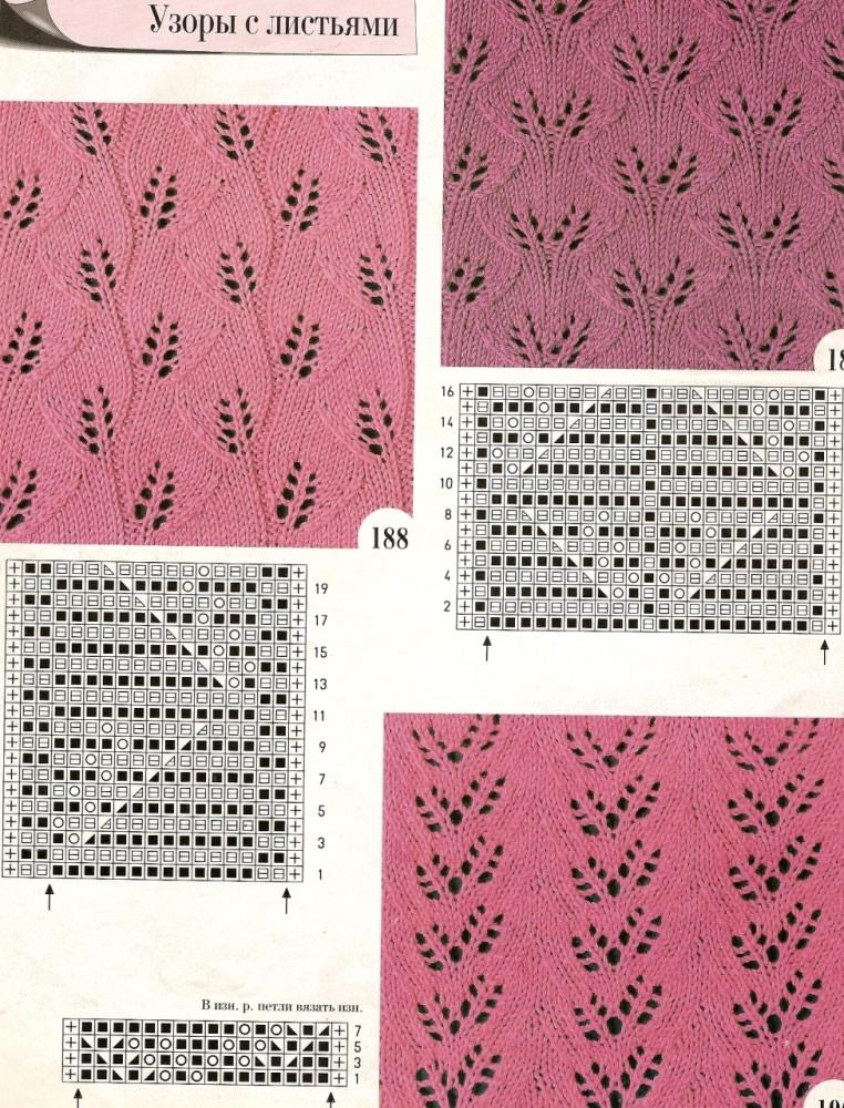 Узор веточки спицами: подробное описание uzor vetochki 6