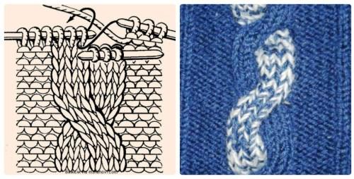 Узор Восьмерка спицами: варианты вязания uzor vosmerka spicami 4