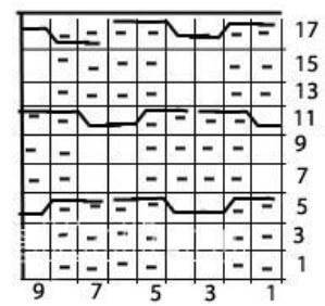Узор Ячейки спицами uzor yachejki spicami 4