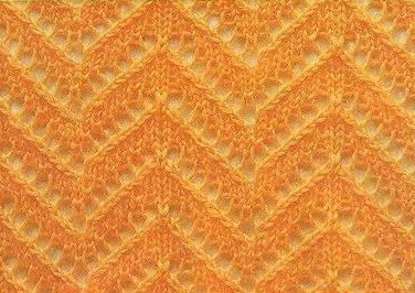 Узор зигзаг спицами: варианты вязания uzor zigzag 5