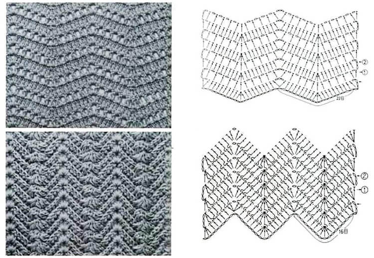 Узор зигзаг крючком   создаем яркие и оригинальные вещи uzor zigzag kryuchkom 21