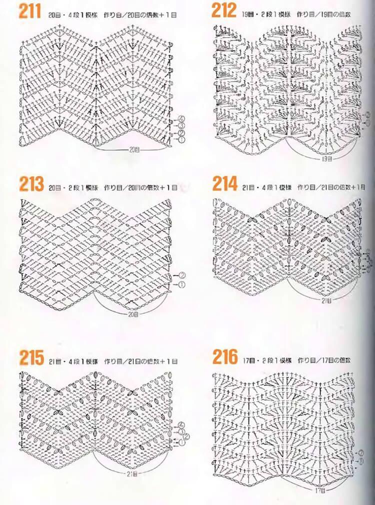 Узор зигзаг крючком   создаем яркие и оригинальные вещи uzor zigzag kryuchkom 24