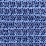 Вафельный узор крючком: вяжем по схеме и описанию