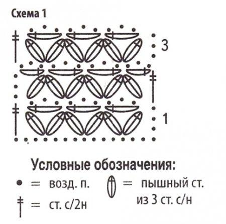 Узор Звездочки крючком zvezdi kryuchkom 2