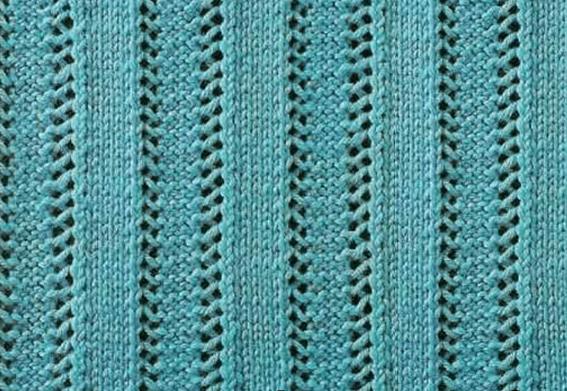 Вертикальные узоры спицами: варианты со схемами vertikalnye uzory spicami 8
