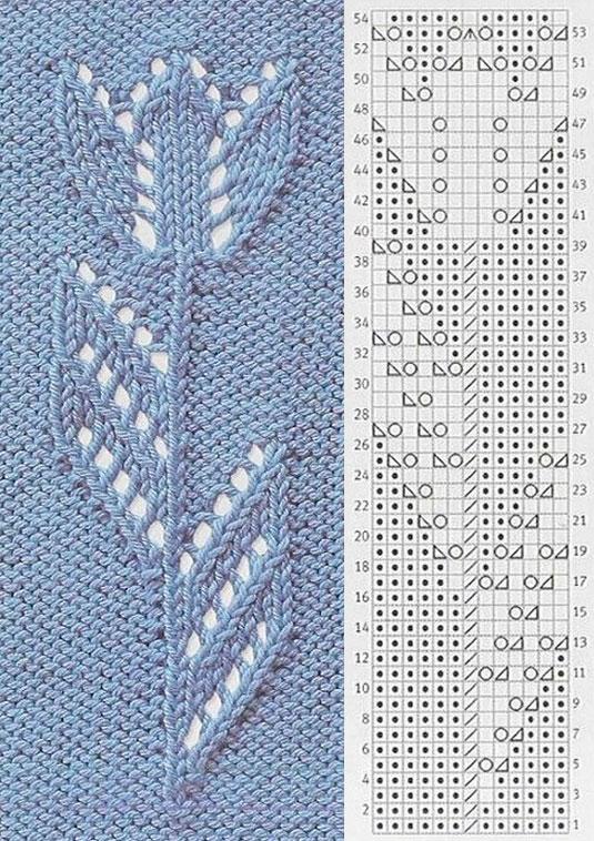 Как вязать узор Тюльпаны: варианты спицами 5435