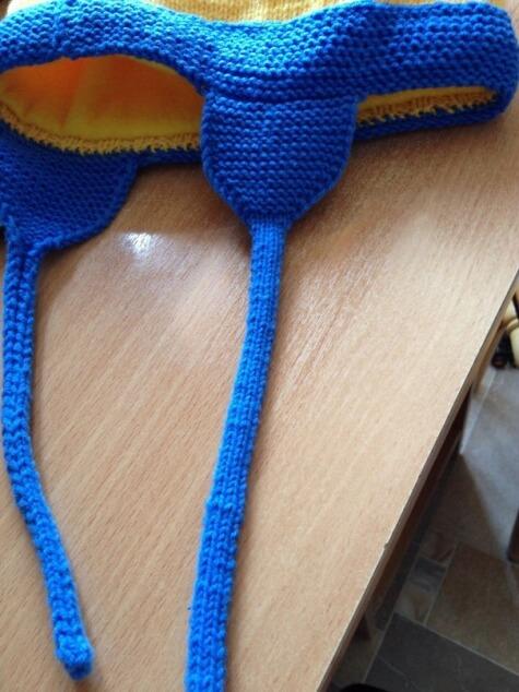 Веселая шапочка Миньон для вашего ребенка shapka minon spicami 5