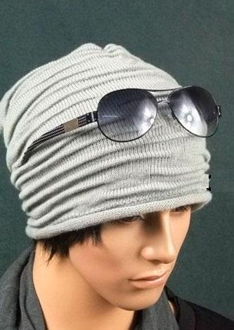 Модная и стильная шапка узором Клоке спицами shapka uzorom kloke