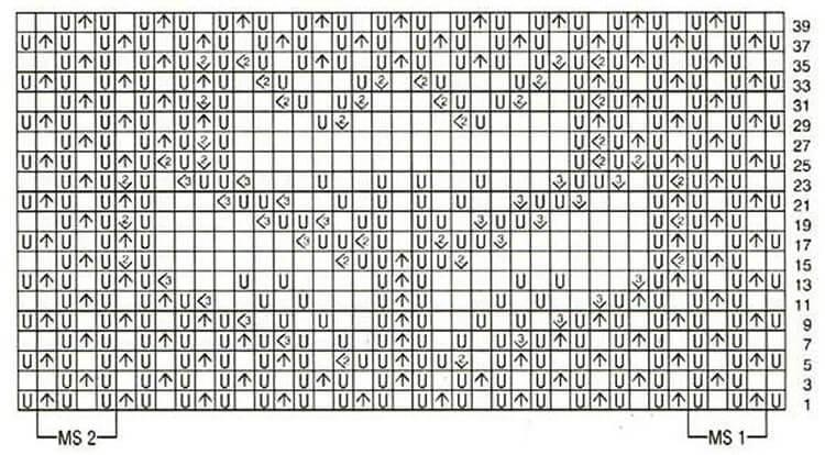 Как вязать узор Тюльпаны: варианты спицами uzor tyulpan spicami 8