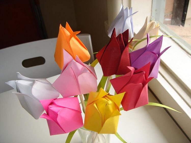 Как сделать тюльпаны своими руками: мастер классы в различных техниках Tyulpan iz bumagi 3