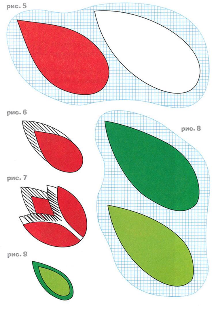 Как сделать тюльпаны своими руками: мастер классы в различных техниках Tyulpan iz bumagi 36