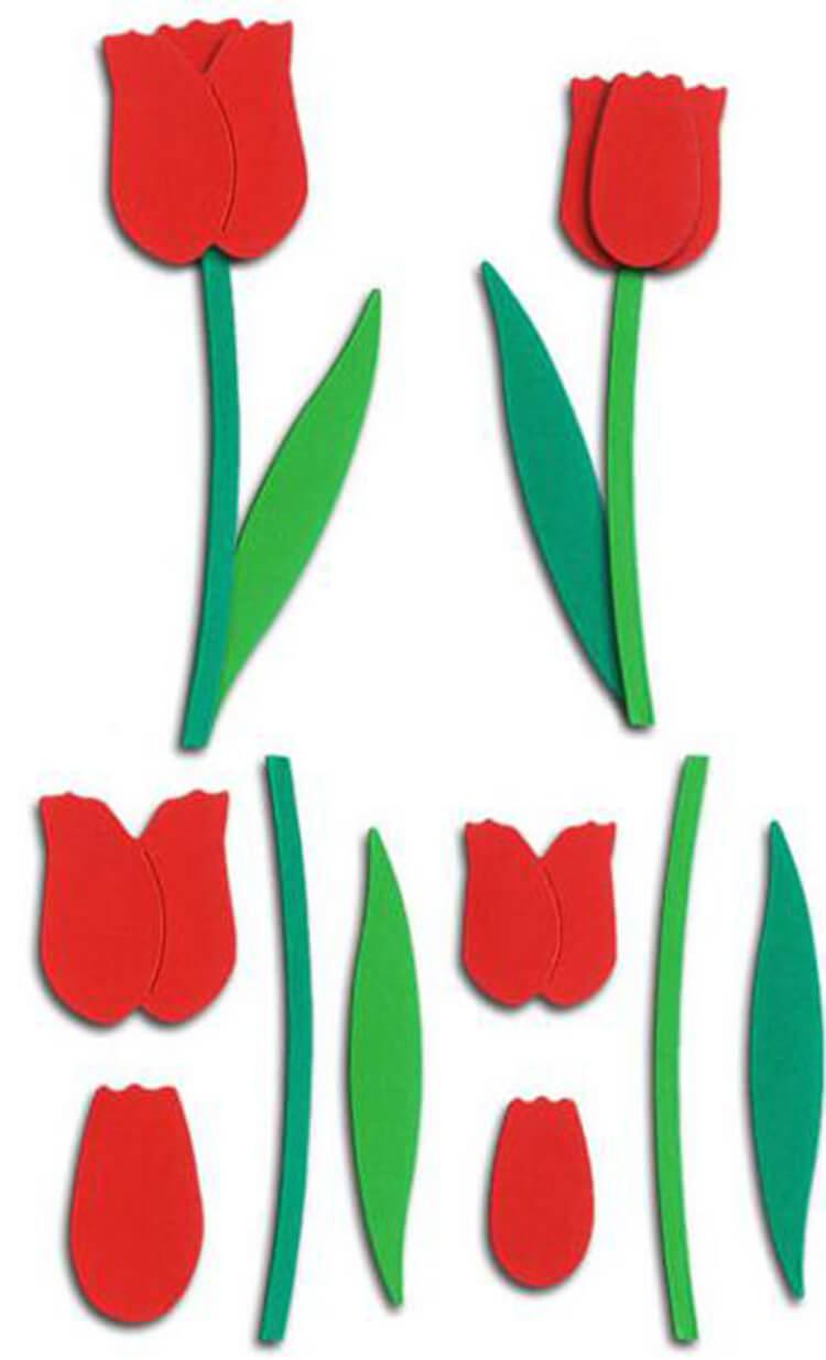 Тюльпаны на открытку своими руками из бумаги, поздравлением
