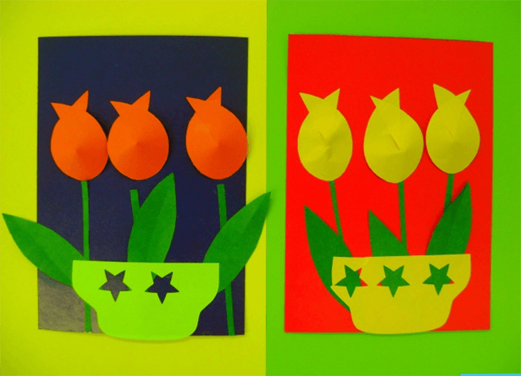 Как сделать тюльпаны своими руками: мастер классы в различных техниках Tyulpan iz bumagi 44