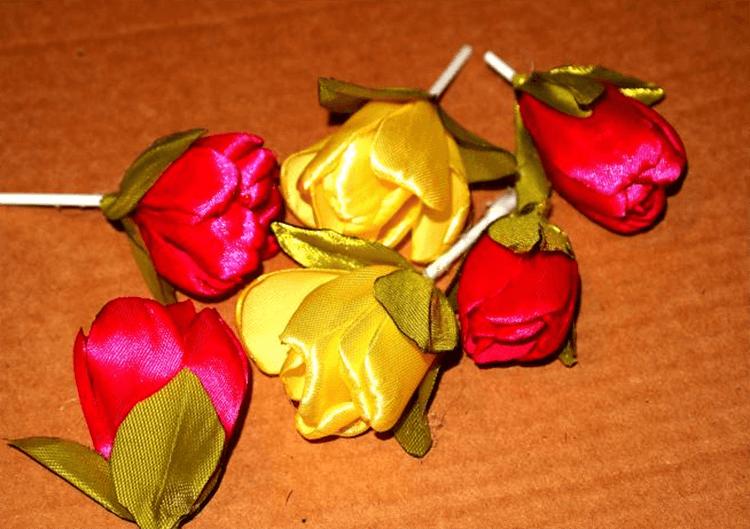 Как сделать тюльпаны своими руками: мастер классы в различных техниках Tyulpan iz bumagi 76