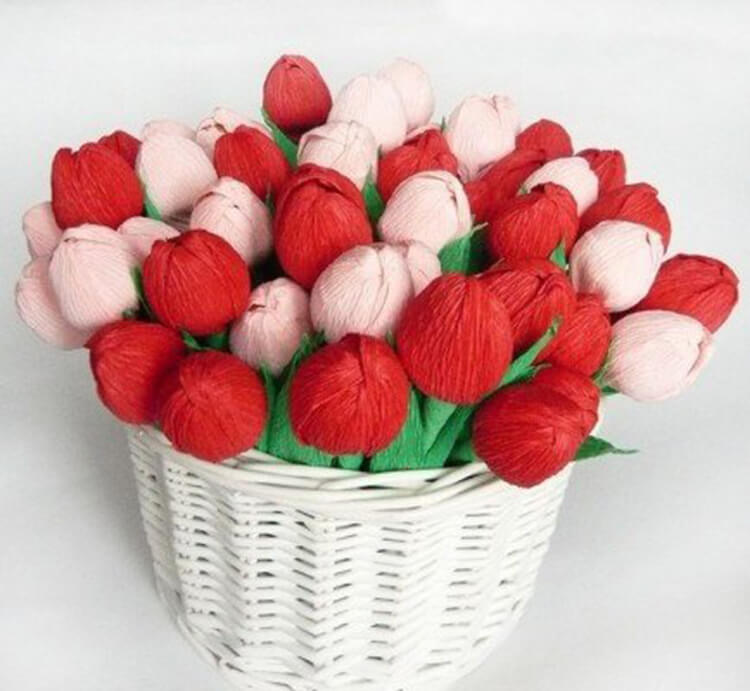 Как сделать тюльпаны своими руками: мастер классы в различных техниках Tyulpan iz bumagi 77