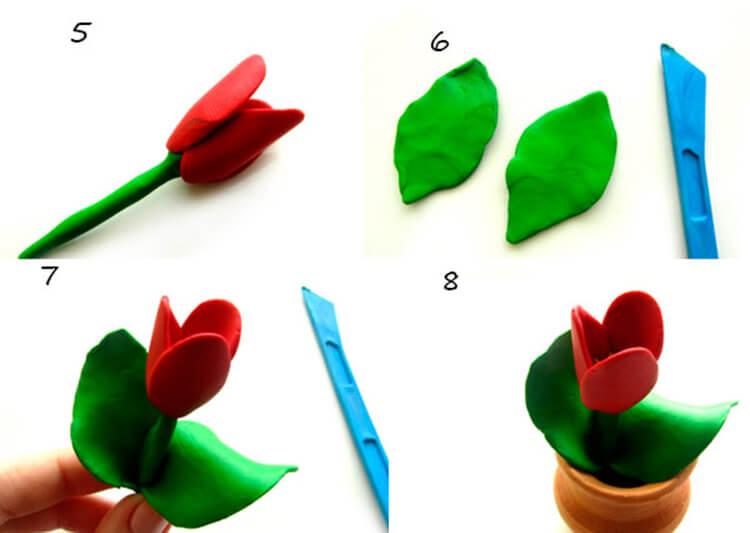 Как сделать тюльпаны своими руками: мастер классы в различных техниках Tyulpan iz bumagi 85