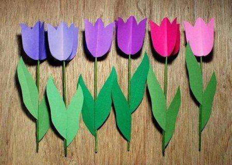 Как сделать тюльпаны своими руками: мастер классы в различных техниках Tyulpan iz bumagi 86