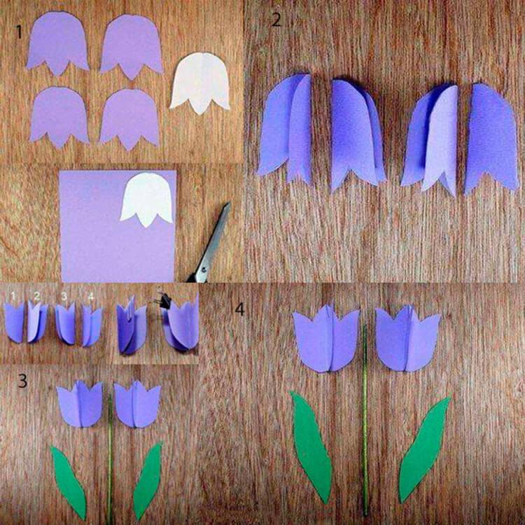 Как сделать тюльпаны своими руками: мастер классы в различных техниках Tyulpan iz bumagi 87