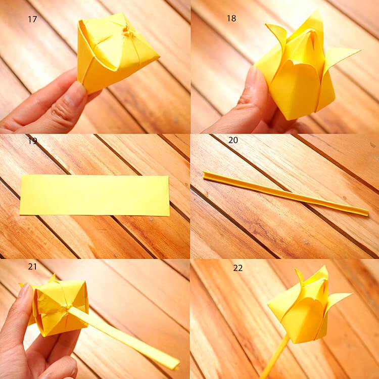 Как сделать тюльпаны своими руками: мастер классы в различных техниках Tyulpan iz bumagi 9