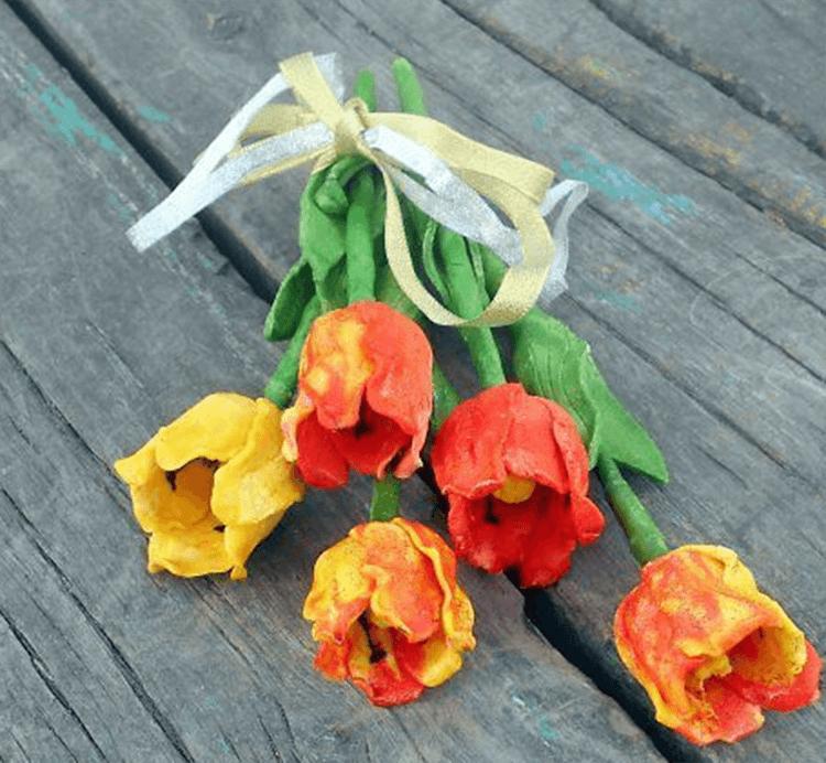 Как сделать тюльпаны своими руками: мастер классы в различных техниках Tyulpan iz bumagi 93