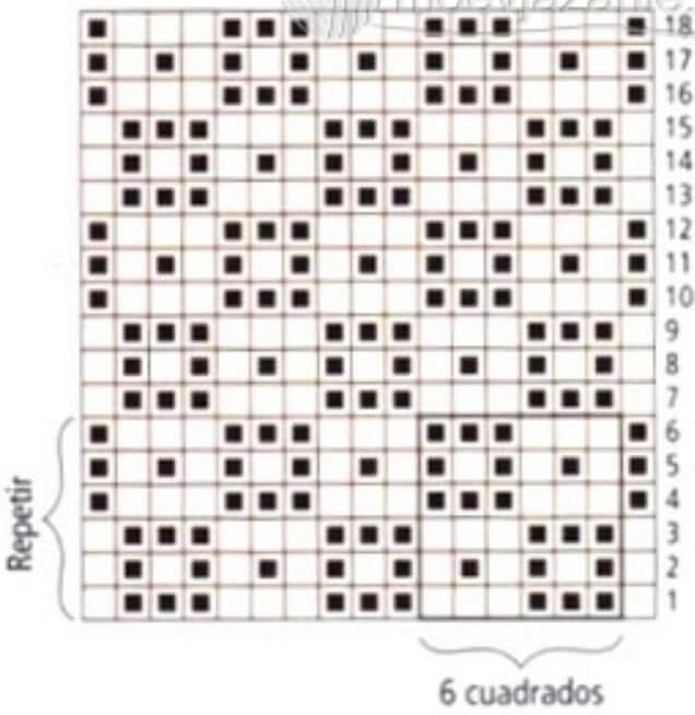 Филейные узоры крючком: техника вязания filejnye uzory kryuchkom skhemy 17