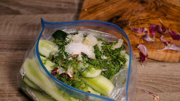 Малосольные огурцы в пакете: вкусные и простые рецепты malosolnye ogurcy 5