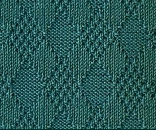 Узор Ромбы спицами: схемы вязаний romby shemy opisanie 3