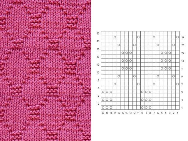 Узор Ромбы спицами: схемы вязаний romby shemy opisanie 6
