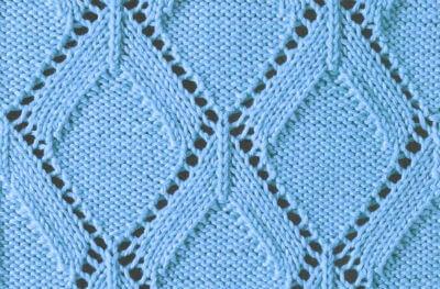 Узор Ромбы спицами: схемы вязаний romby shemy opisanie 7