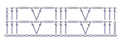 Вертикальные узоры крючком: красивые схемы vertikalnye uzory kryuchkom 7