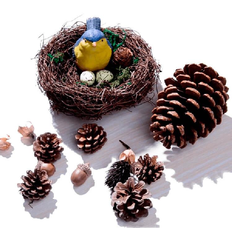 Красивые поделки из сосновых шишек для дома и садика Podelki iz shishek 1