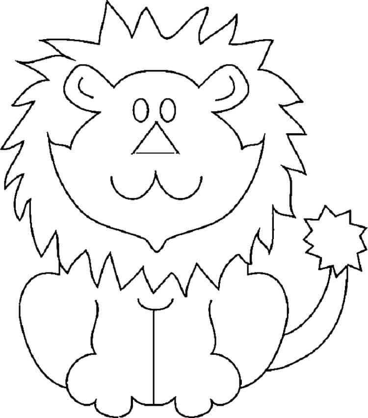 Лев из осенних листьев: варианты аппликации для детского сада lev 9