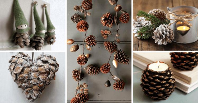 Красивые поделки из шишек на тему Осень для сада и школы podelki iz shishek svoimi rukami 2