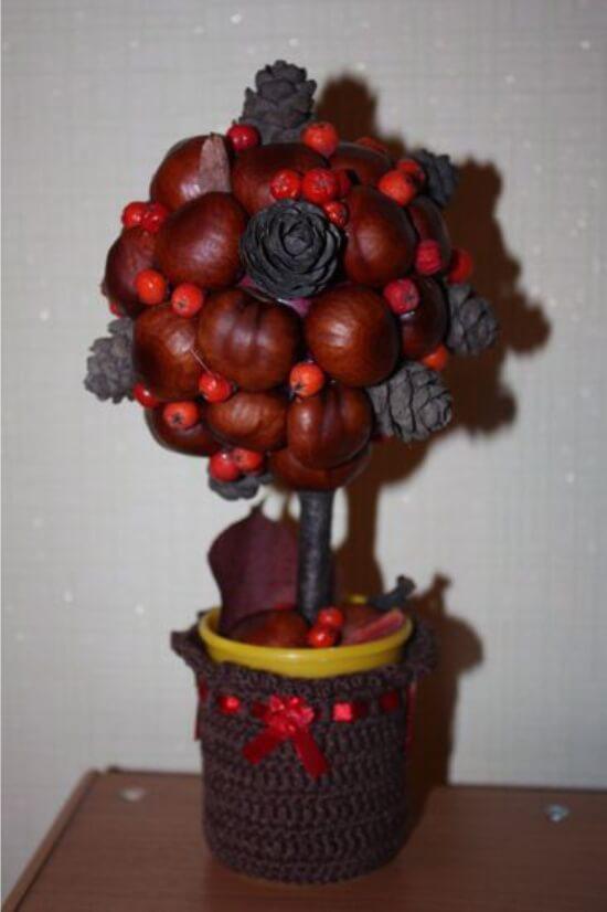 Красивые поделки из шишек на тему Осень для сада и школы podelki iz shishek svoimi rukami 46