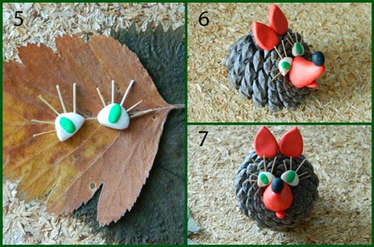 Красивые поделки из шишек на тему Осень для сада и школы podelki iz shishek svoimi rukami 51