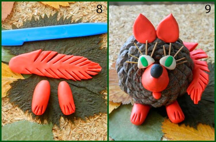 Красивые поделки из шишек на тему Осень для сада и школы podelki iz shishek svoimi rukami 52