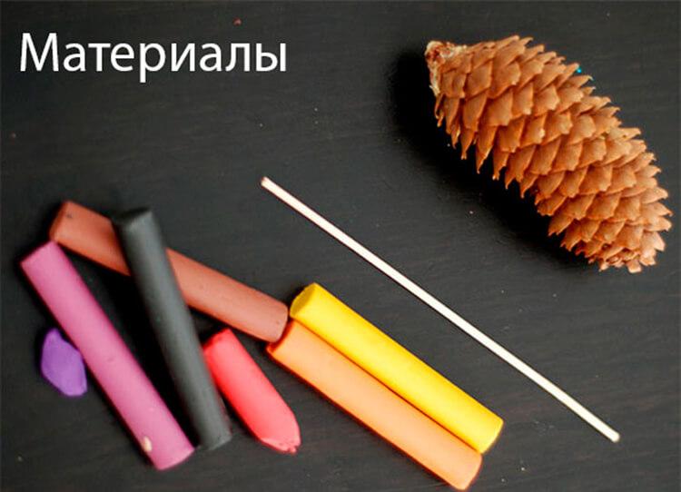 Красивые поделки из шишек на тему Осень для сада и школы podelki iz shishek svoimi rukami 54