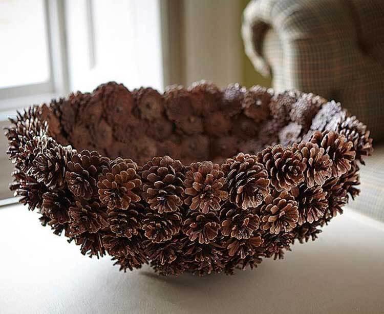 Красивые поделки из сосновых шишек для дома и садика podelki iz sosnovyh shishek 25