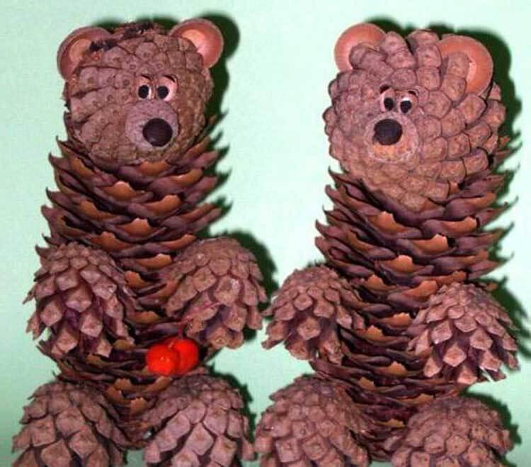 Красивые поделки из сосновых шишек для дома и садика podelki iz sosnovyh shishek 27