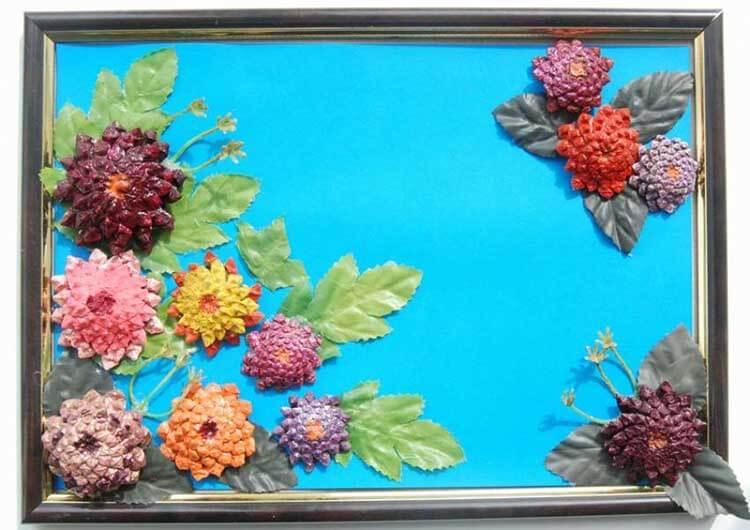 Красивые поделки из сосновых шишек для дома и садика podelki iz sosnovyh shishek 29