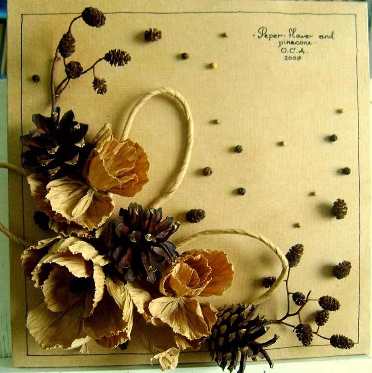 Красивые поделки из сосновых шишек для дома и садика podelki iz sosnovyh shishek 30