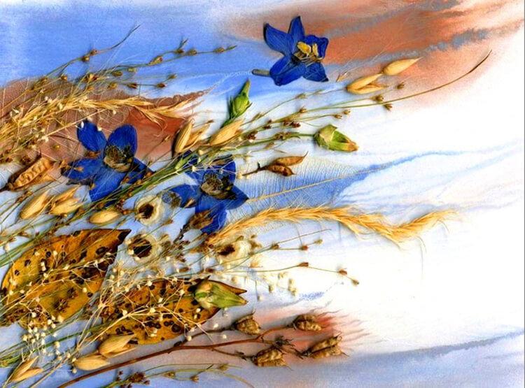 Что можно сделать из сухих осенних листьев: варианты с фото podelki s detkami iz suhih list ev 14