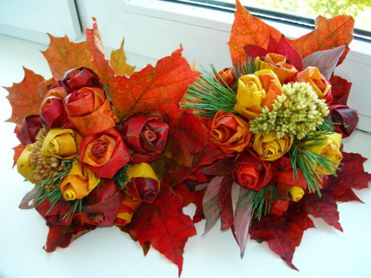 Что можно сделать из сухих осенних листьев: варианты с фото podelki s detkami iz suhih list ev 18